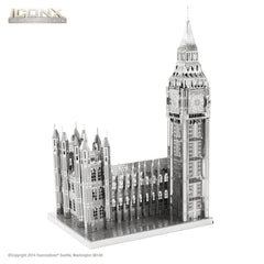 Fascinations Metal Earth 3D ICONX Laser Cut Model Big Ben