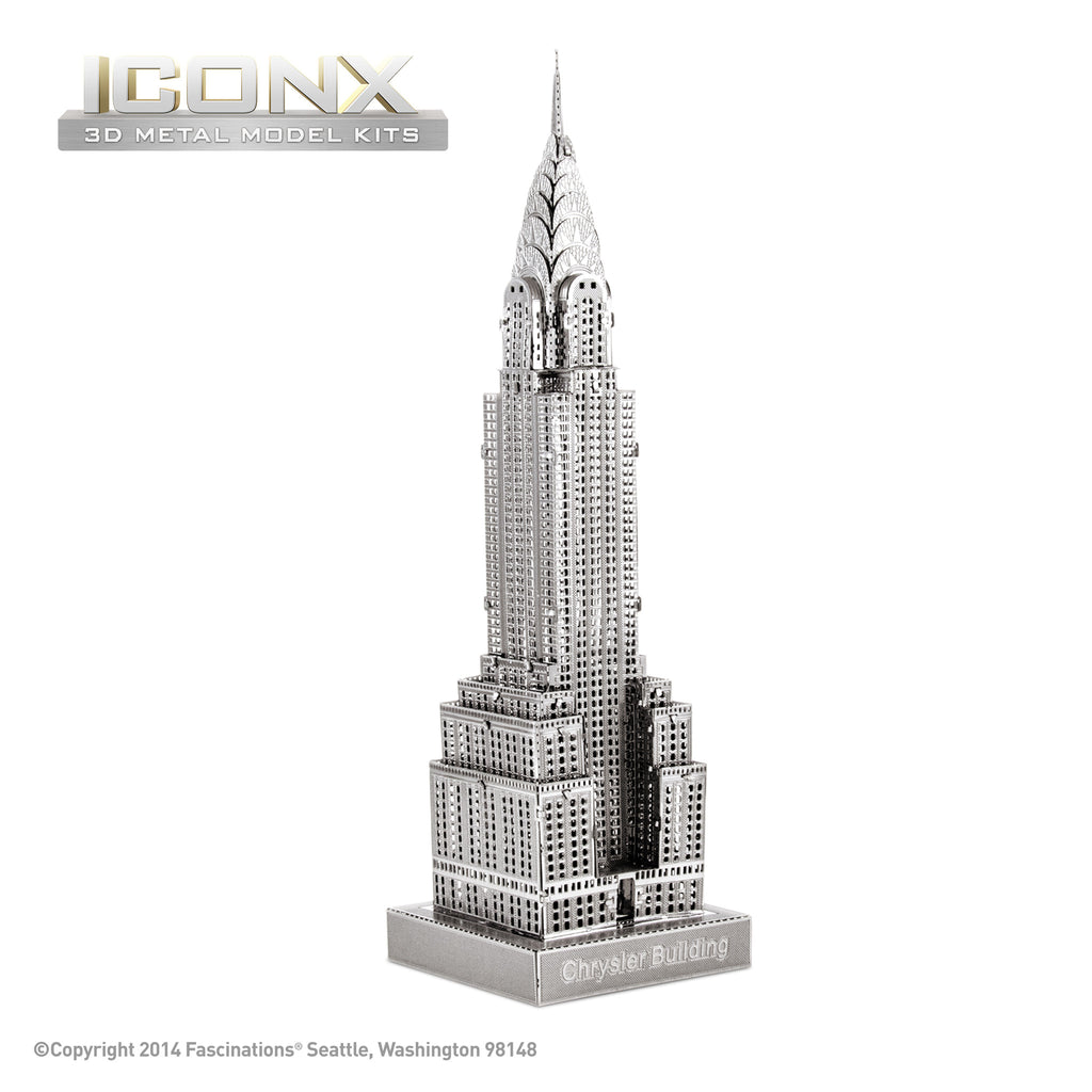 Fascinations Metal Earth 3D ICONX Laser Cut Model Chrysler Building