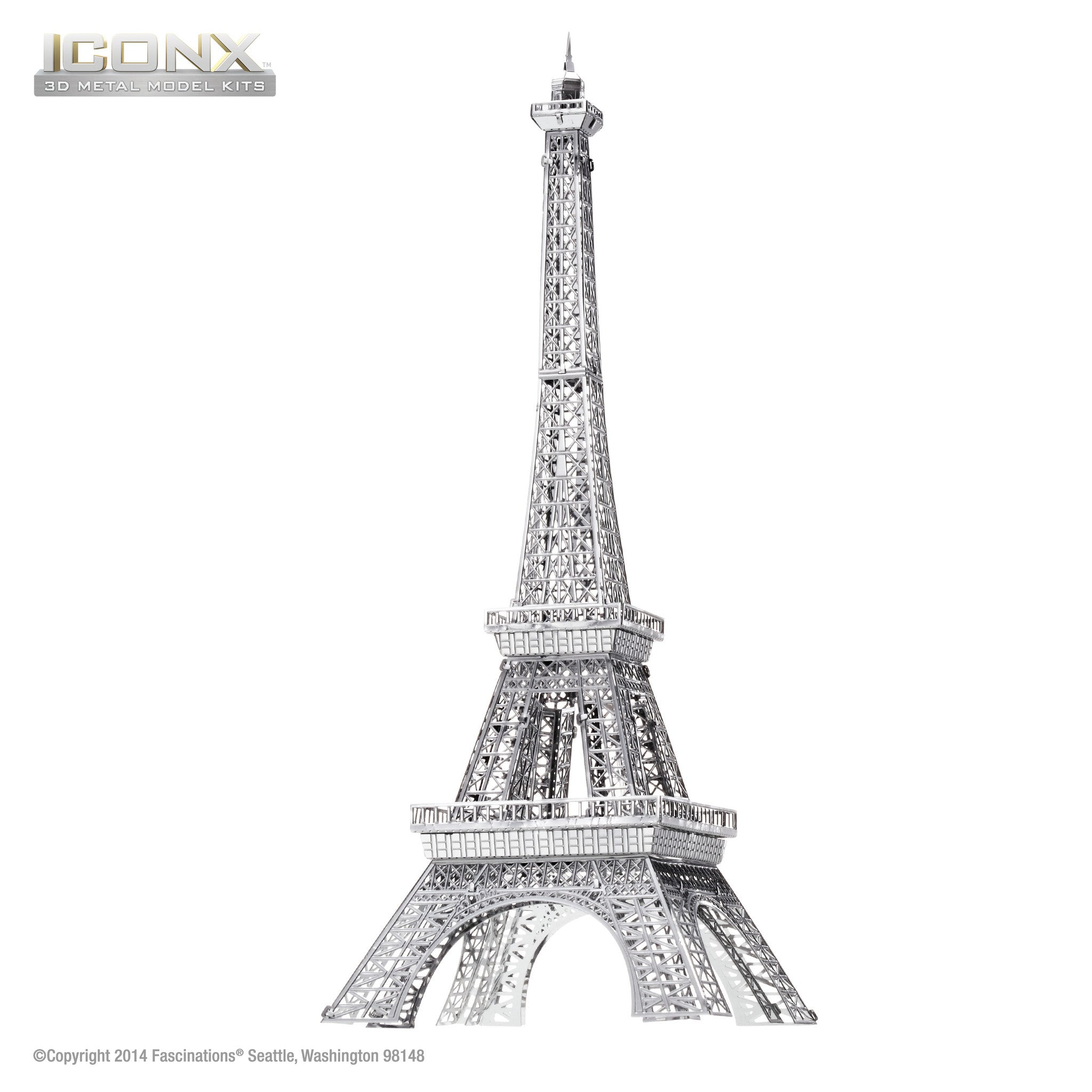 Fascinations Metal Earth 3D ICONX Laser Cut Model Eiffel Tower