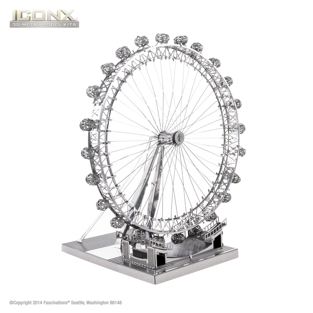 Fascinations Metal Earth 3D ICONX Laser Cut Model London Eye Ferris Wheel