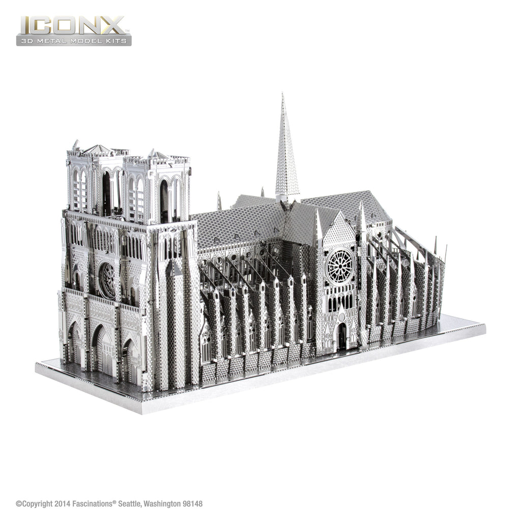 Fascinations Metal Earth 3D ICONX Laser Cut Model Notre Dame