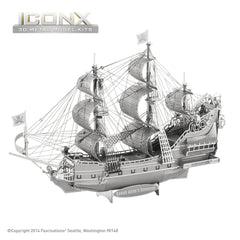 Fascinations Metal Earth 3D ICONX Laser Cut Model Queen Anne's Revenge Ship