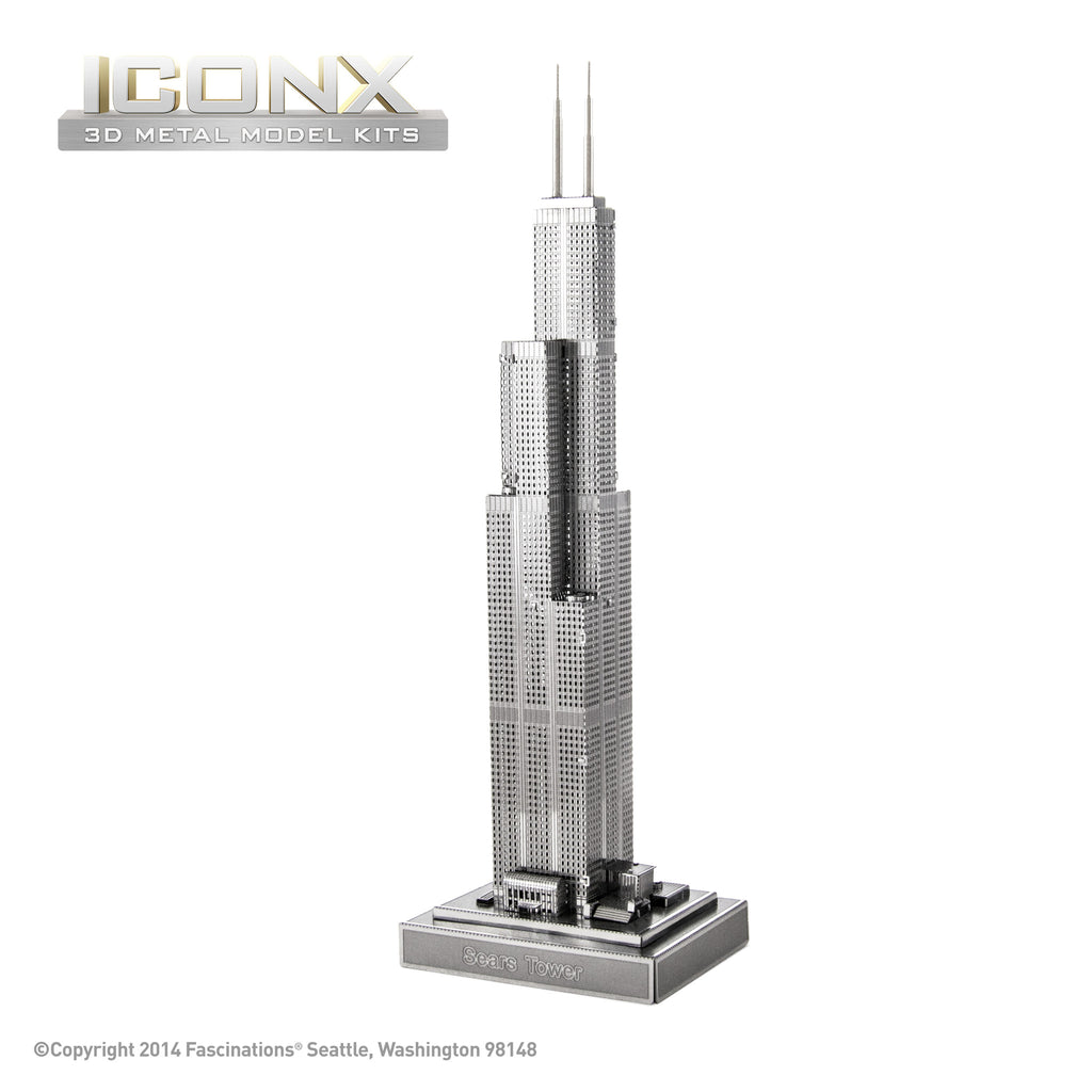 Fascinations Metal Earth 3D ICONX Laser Cut Model Sears Tower