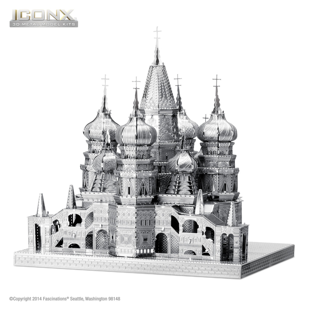 Fascinations Metal Earth 3D ICONX Laser Cut Model St Basil's Cathedral