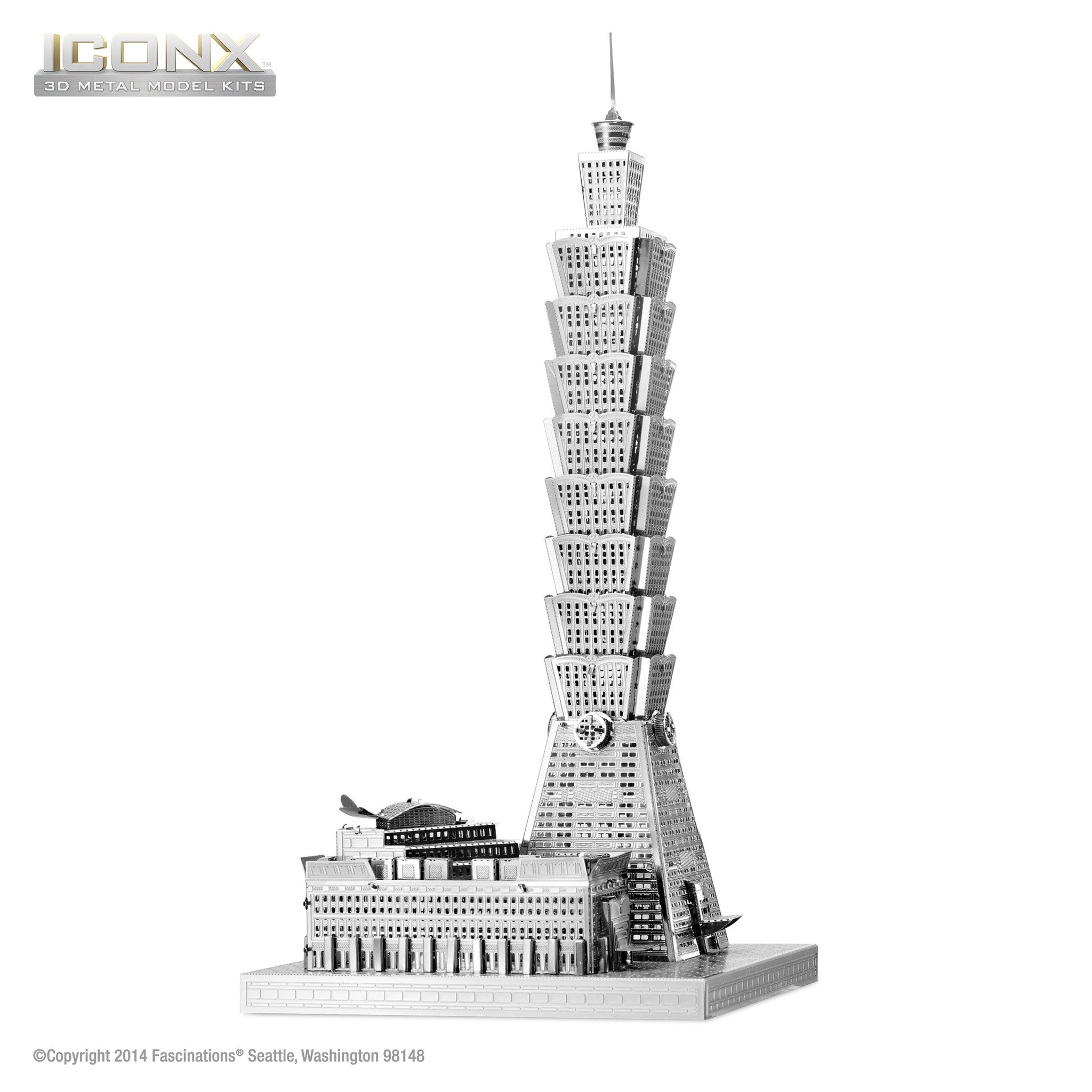 Fascinations Metal Earth 3D ICONX Laser Cut Model Taipei 101 Building