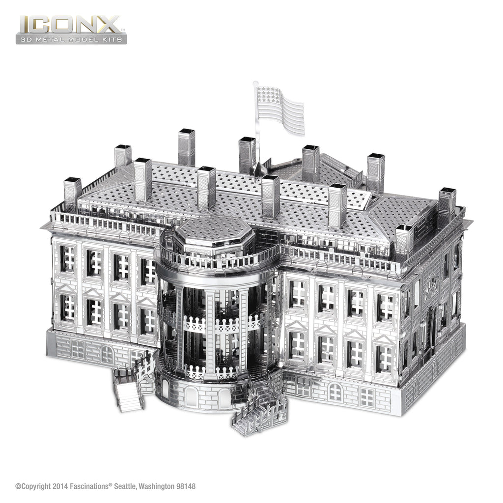 Fascinations Metal Earth 3D ICONX Laser Cut Model White House