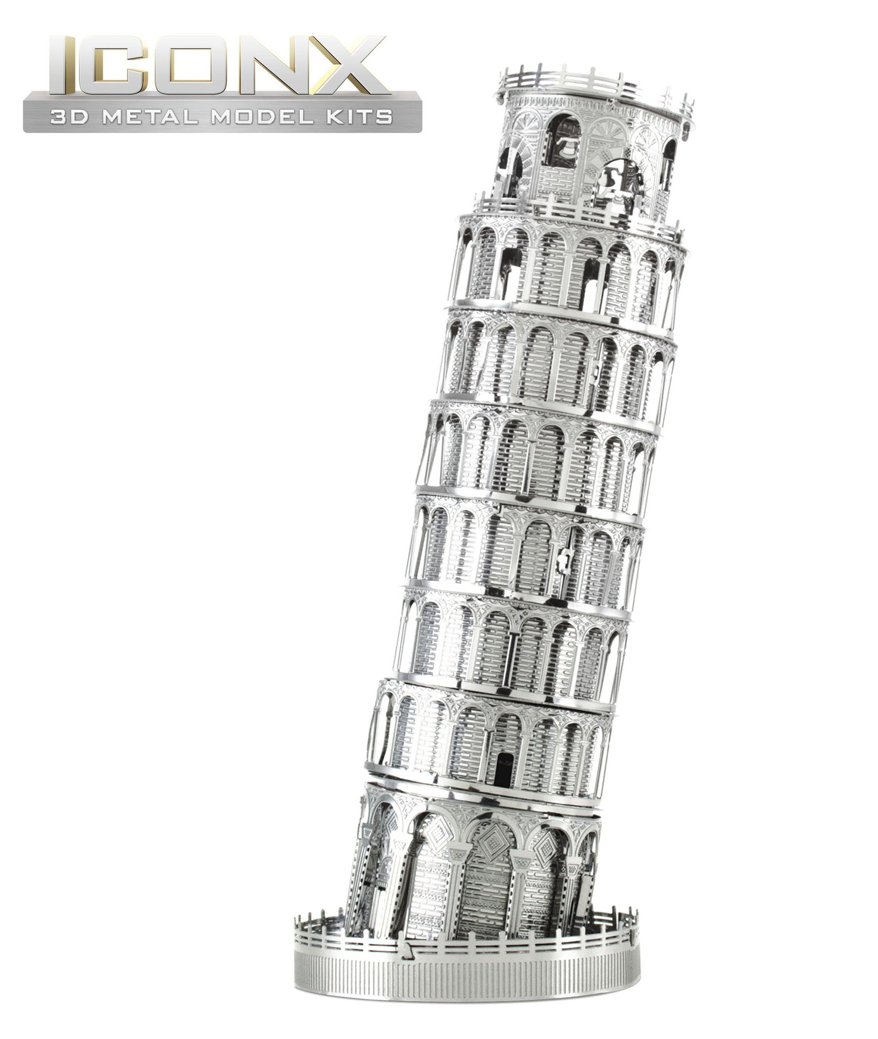 Fascinations Metal Earth 3D ICONX Laser Cut Model Leaning Tower of Pisa