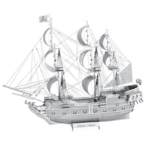 Metal Earth 3D ICONX Laser Cut Model Black Pearl Ship