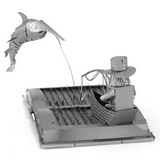 Metal Earth 3D Steel Model Kit - The Old Man and The Sea Book Sculpture