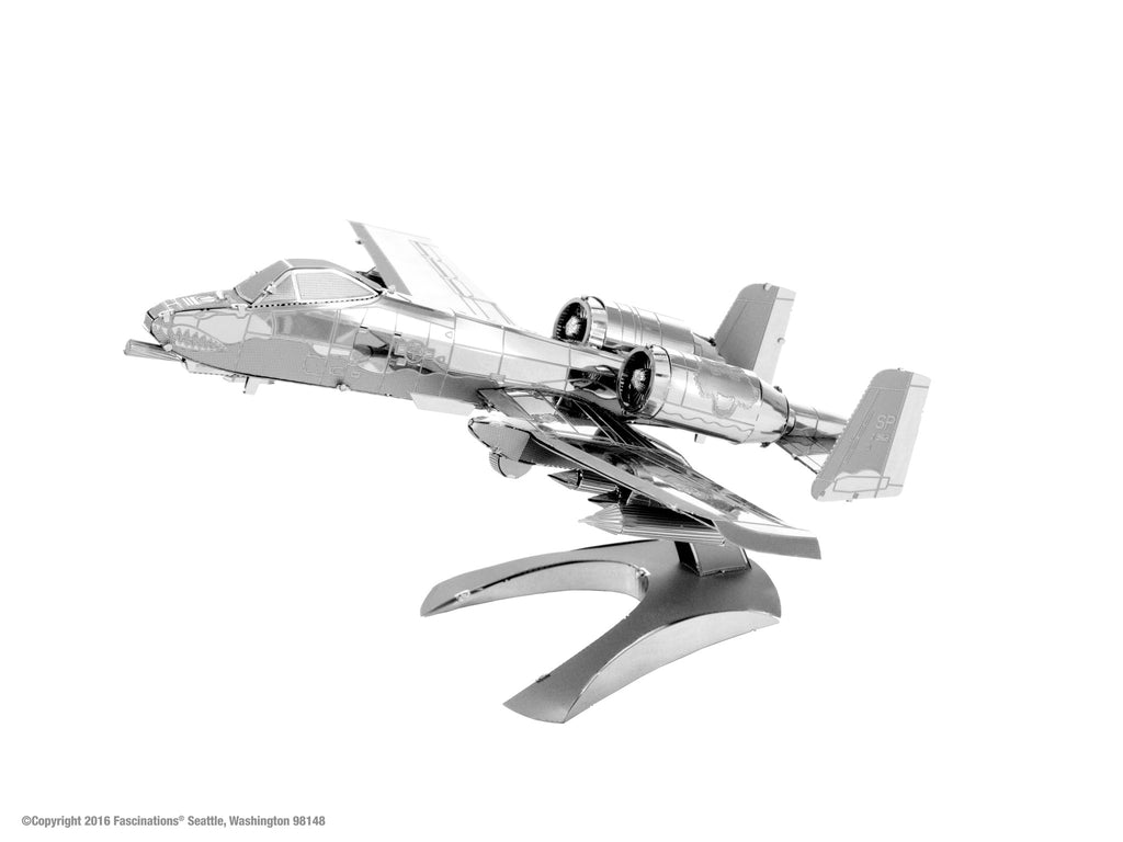Metal Earth 3D Laser Cut Model A-10 Warthog Fighter Jet