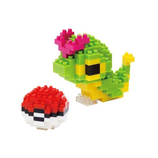Wise Hawk Mini Blocks Pokemon Nano Block 169 Piece Building Sets - Caterpie