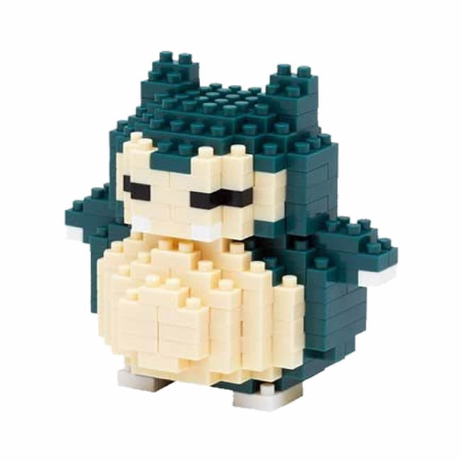 Wise Hawk Mini Blocks Pokemon Nano Block 221 Piece Building Sets - Snorlax