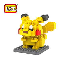 LOZ Diamond Blocks Pokemon Nano Block 120 Piece Building Sets - Pikachu