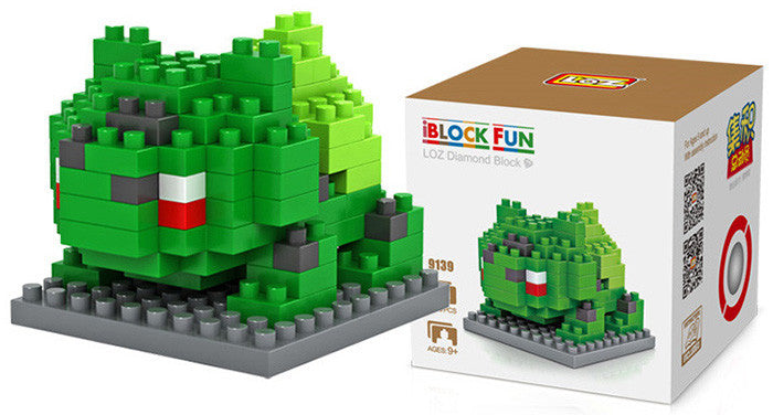 LOZ Diamond Blocks Pokemon Nano Block 120 Piece Building Sets - Bulbasaur