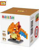 LOZ Diamond Blocks Pokemon Nano Block 210 Piece Building Sets - Charizard