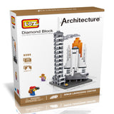 LOZ Diamond Blocks Gift Series Nano Block 710 Piece Building Set - Space Shuttle Launching Center