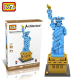 LOZ Diamond Blocks Gift Series Nano Block 820 Piece Building Set - Statue of Liberty