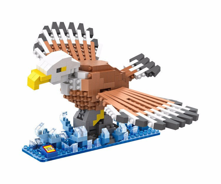LOZ Diamond Blocks Animals Gift Series Nano Block 340 Piece Building Set - Bald Eagle