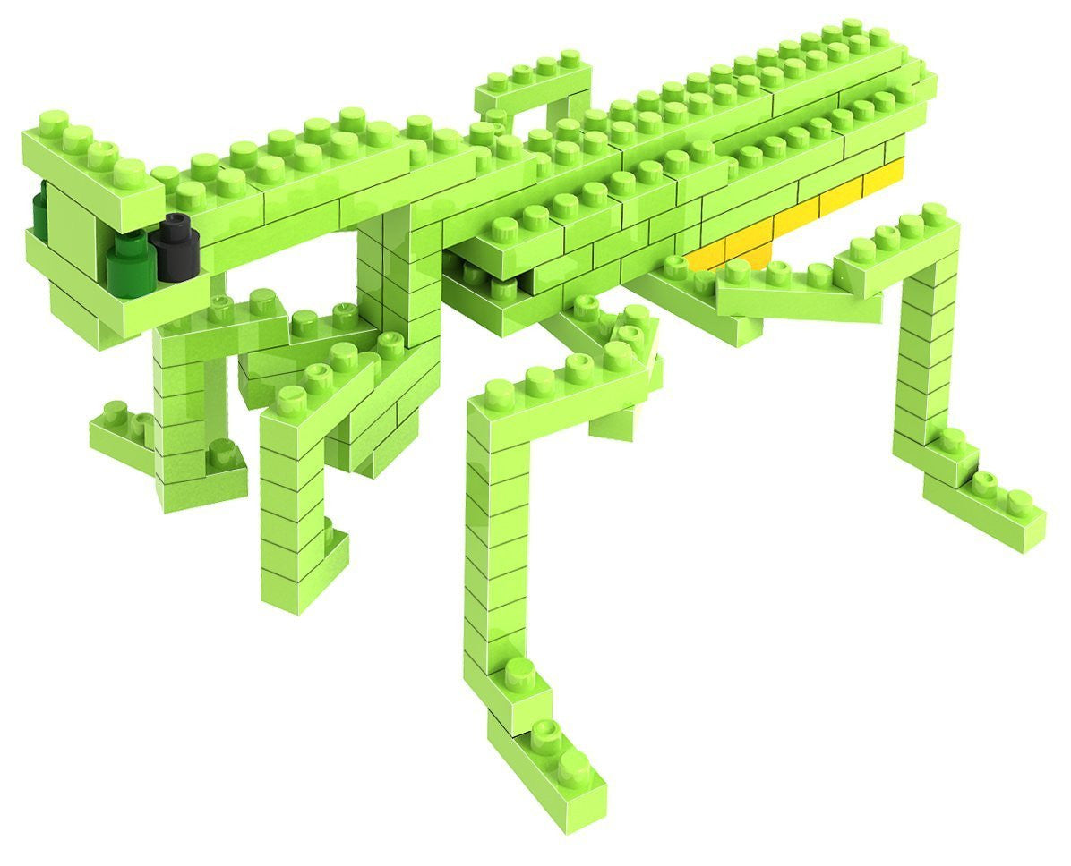 LOZ Diamond Blocks Animals Gift Series Nano Block 120 Piece Building Set - Praying Mantis