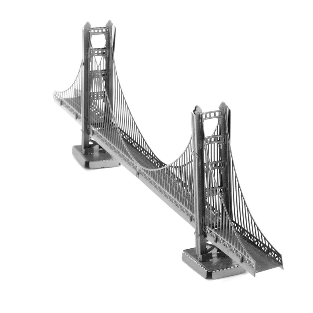 Metal Earth 3D Laser Cut Model Golden Gate Bridge Silver Version