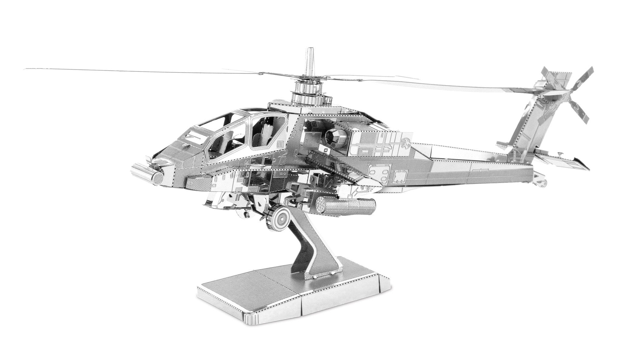 Metal Earth 3D Laser Cut Model AH-64 Apache Helicopter
