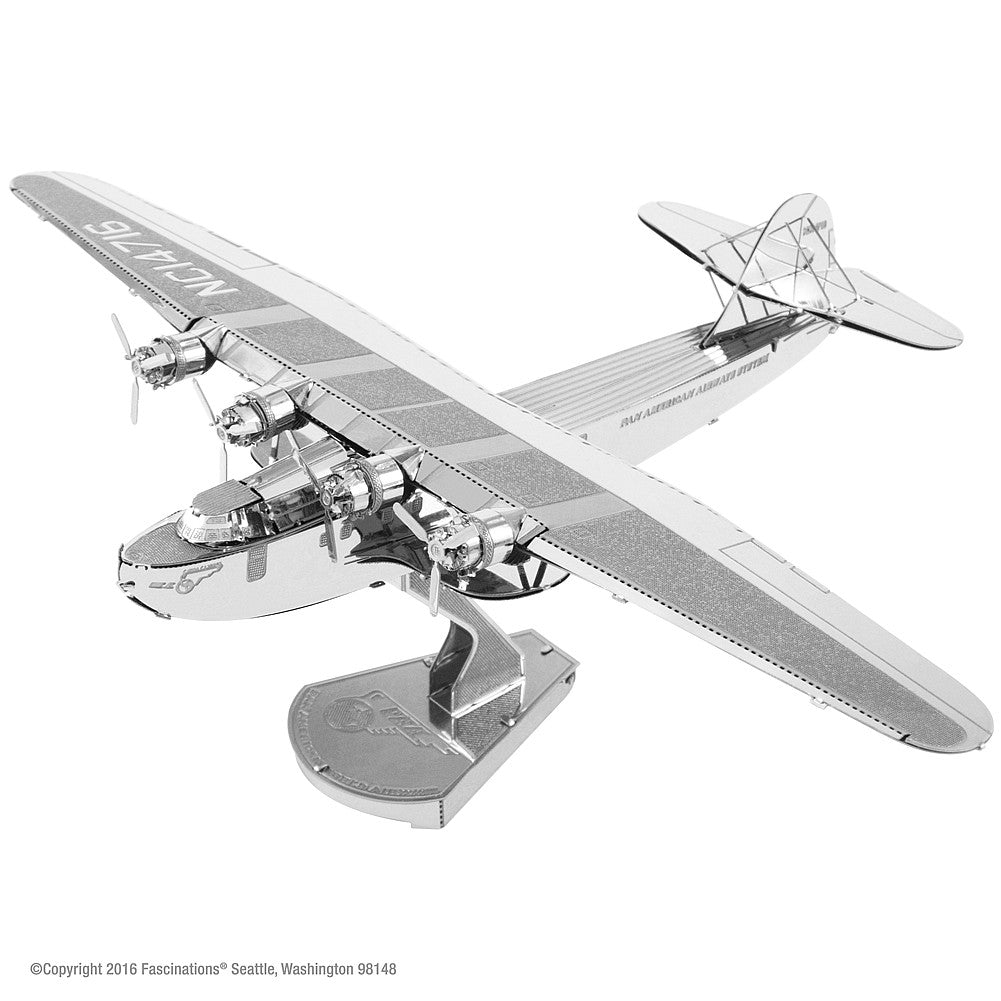 Metal Earth 3D Model Kit Pan Am World Airways China Clipper Airplane