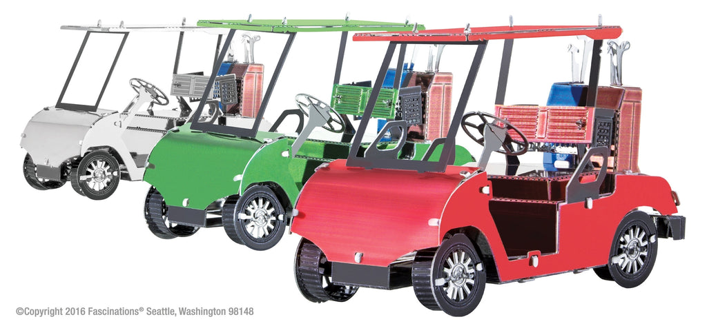 Metal Earth 3D Laser Cut Model Kit Golf Cart Set