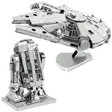 Metal Earth 3D Model Kits Star Wars Set of 2 Millennium Falcon & R2-D2