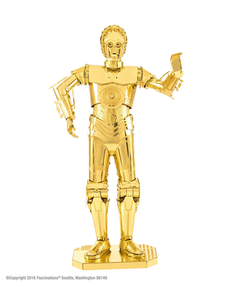 Metal Earth 3D Laser Cut Model Kit Star Wars C-3PO