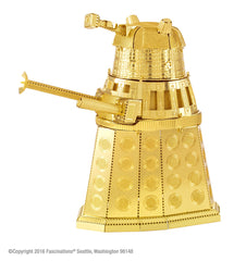 Metal Earth 3D Laser Cut Model Kit Dr. Who Gold Dalek