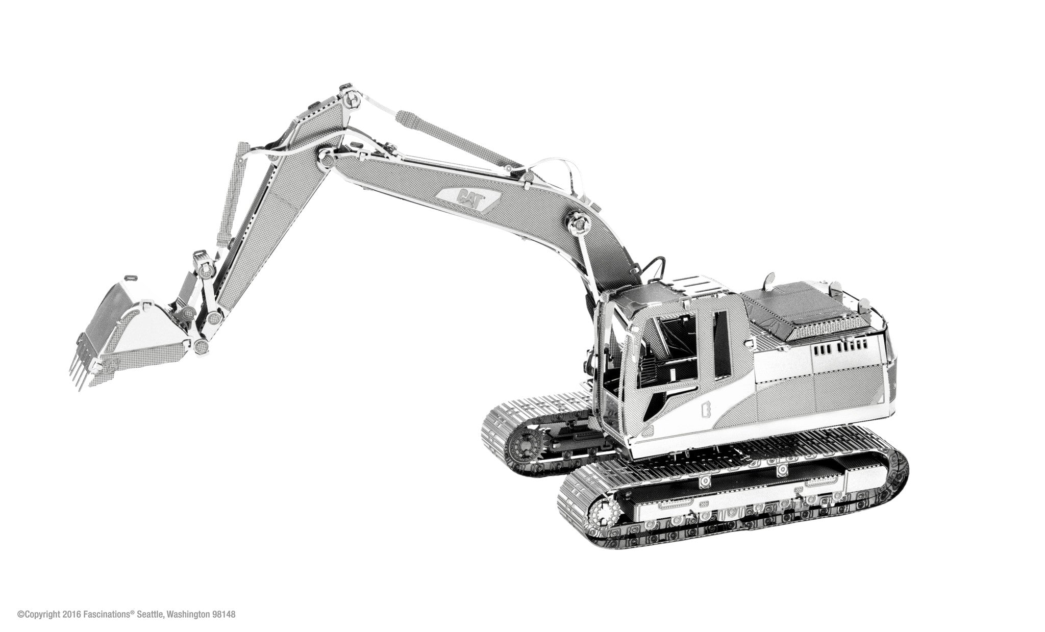Metal Earth 3D Laser Cut Model Kit CAT Excavator