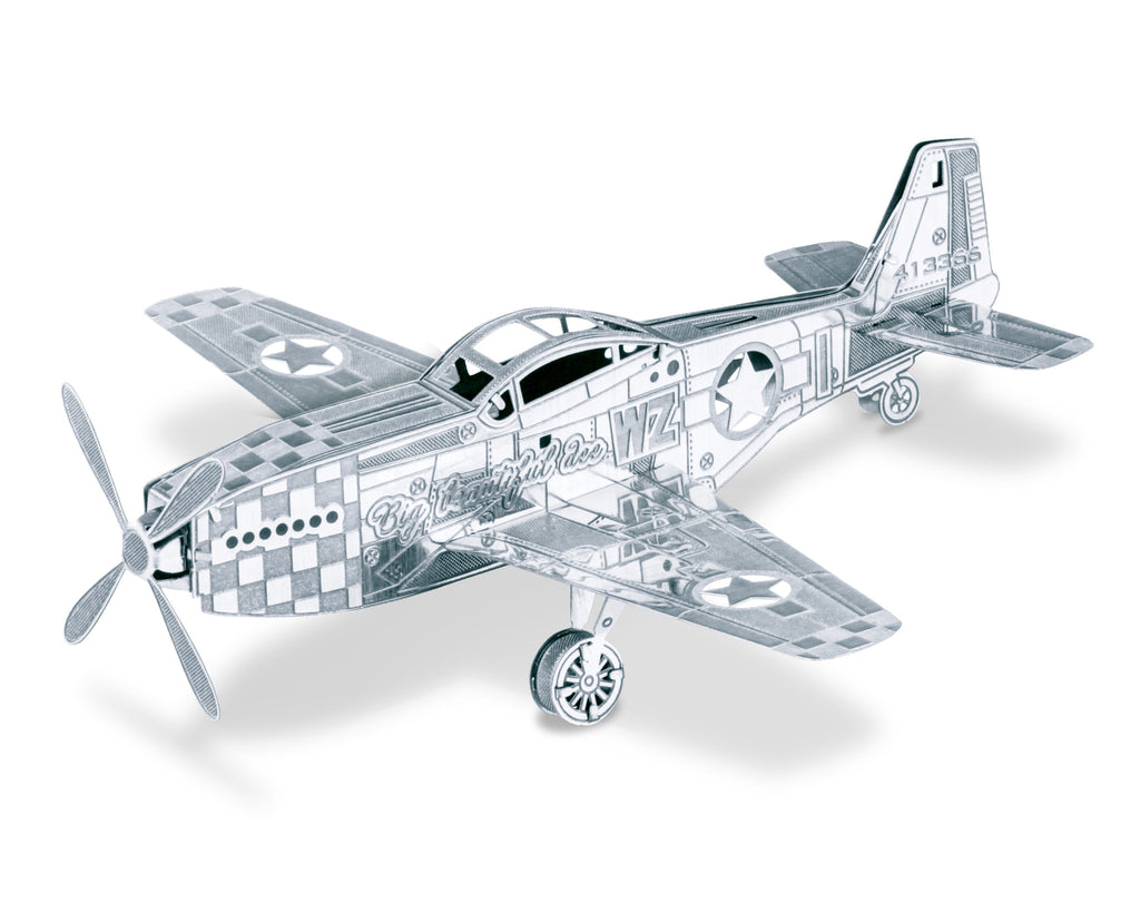 Metal Earth 3D Laser Cut Model Mustang P-51 Plane