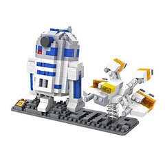 LOZ Diamond Blocks Star Wars Gift Series Nano Block 370 Piece Building Set of 2 - R2D2