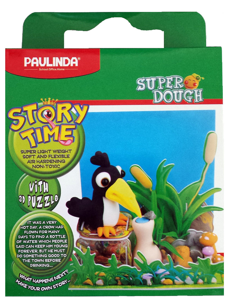 Paulinda Super Dough Story Time Modeling Kit Crow Bird and Garden with Display