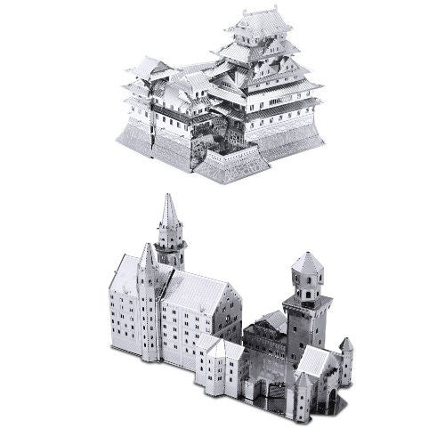 Metal Earth Model Kits SET of 2: Neuschwanstein Castle & Himeji Castle