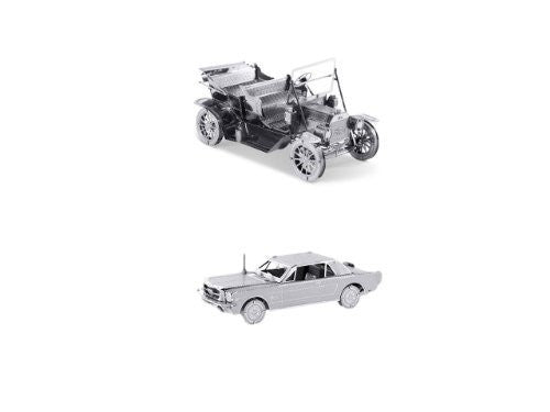 Metal Earth 3D Laser Cut Models Set of 2: 1965 Ford Mustang + 1908 Ford Model T