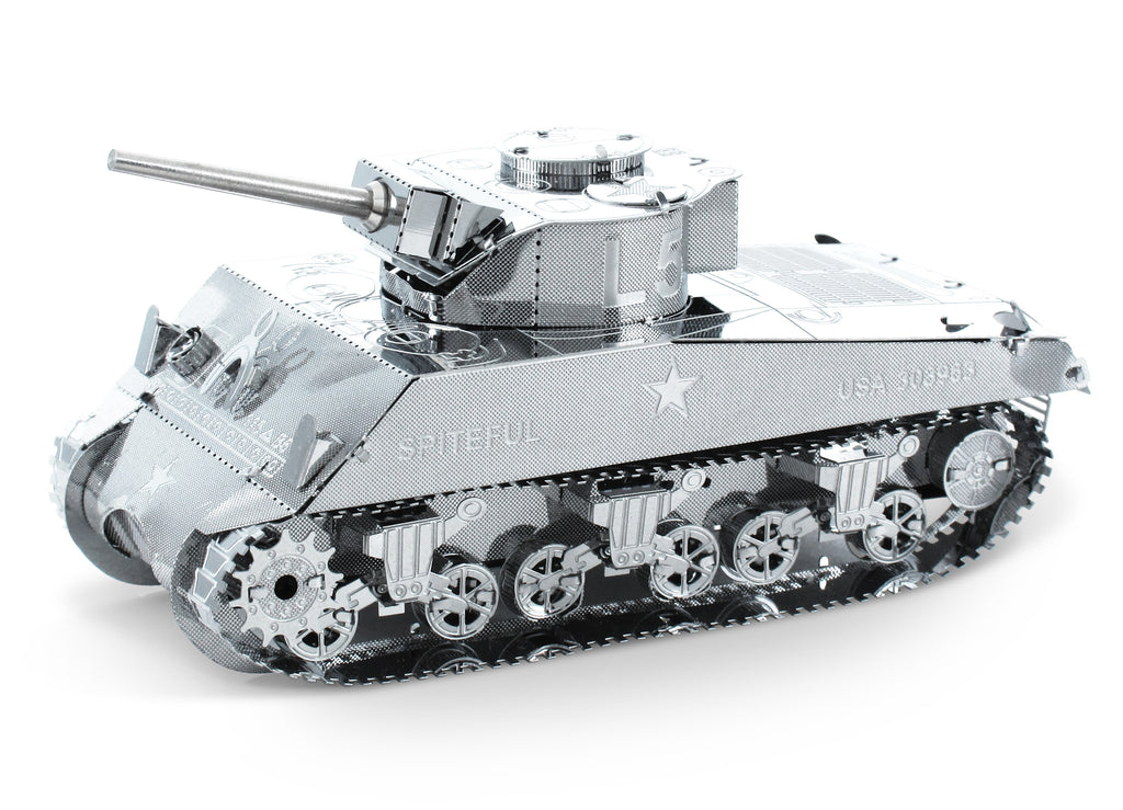Metal Earth 3D Laser Cut Model Sherman Tank Military