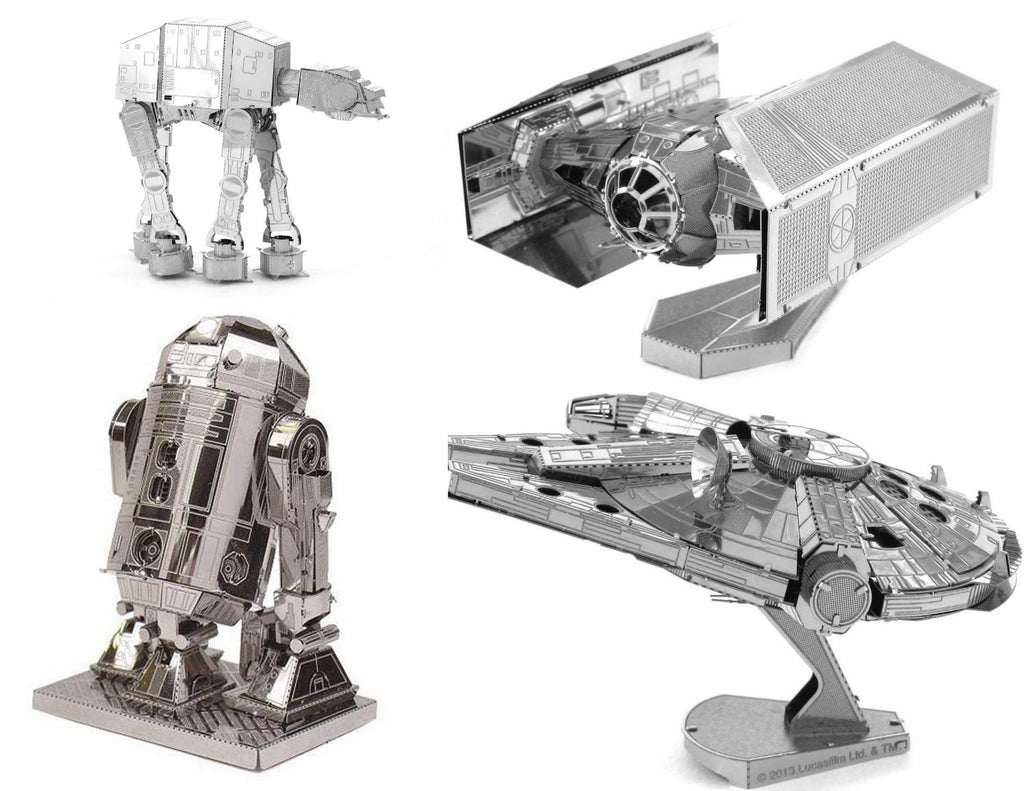 Metal Earth 3D Laser Cut Model Star Wars Original Designs Set of 4 Styles