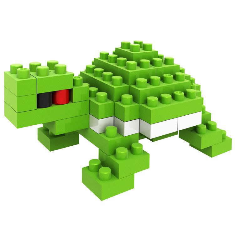 LOZ Diamond Blocks Animals Gift Series Nano Block 80 Piece Building Set - Tortoise Turtle