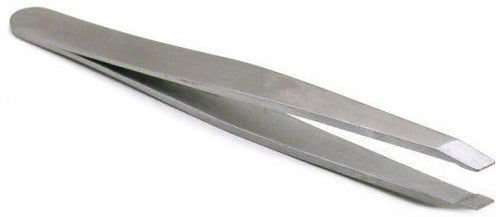 SE - Professional Stainless Steel Slanted Tip Anti-StaticTweezers 3 Inch