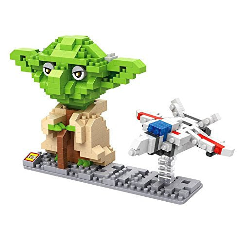 LOZ Diamond Blocks Star Wars Gift Series Nano Block 390 Piece Building Set of 2 - Yoda