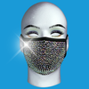 Rhinestone Mask - Rainbow Crystal on Black