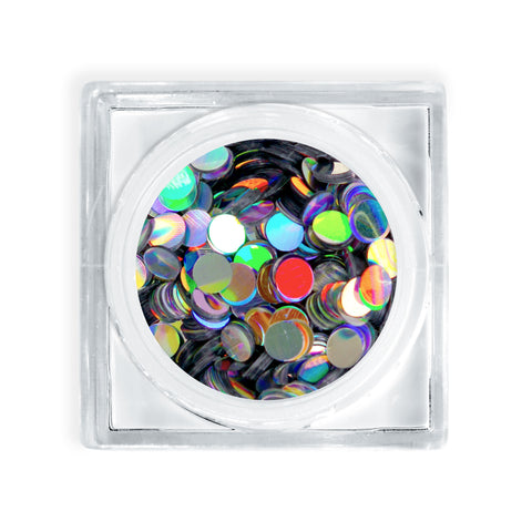 Disco Dots (Silver Holographic / Size #3 Glitter Decor)