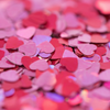 Queen of Hearts (Pink and Red / Size #3 Glitter Decor)