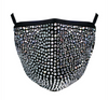 Rhinestone Mask - Silver Crystal on Black
