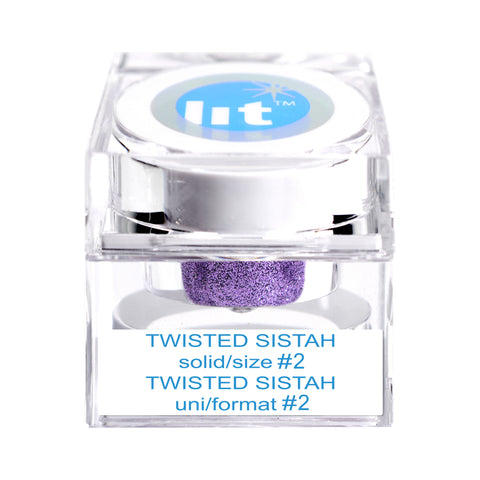 Twisted Sistah Size #2 Glitter (Solid)