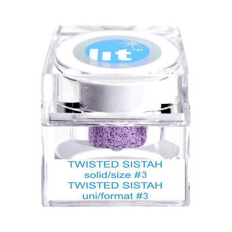Twisted Sistah Size #3 Glitter (Solid)