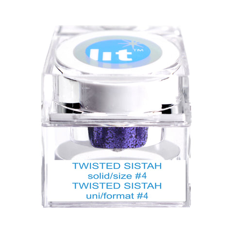 Twisted Sistah Size #4 Glitter (Solid)