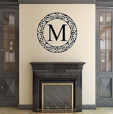 Personalized Custom Monogram Family Vinyl Wall Decal Sticker - Decor Designs Decals