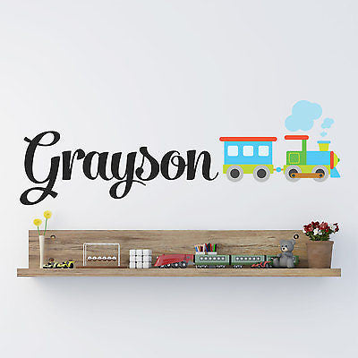 Train Name Wall Decal - Decor Designs Decals
